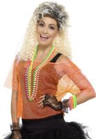 80's Fishnet Top Orange (45191)